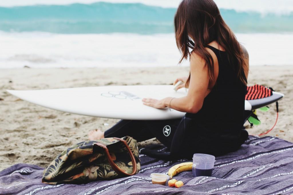 surfista e nutrição